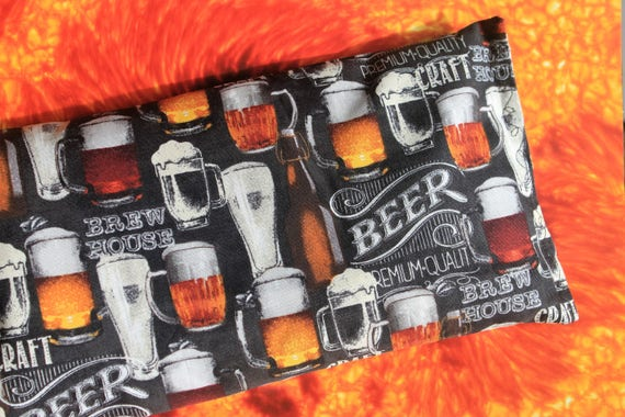 Rice Bag Hot/Cold, beer lover, heating pack, cotton fabric rice bag, brewer gift