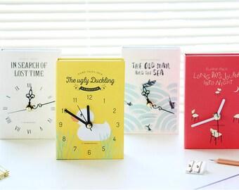 Book Clock Essential Home Deco - NEW