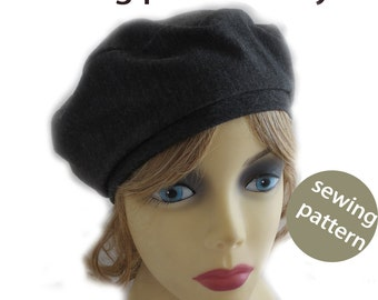 A pdf tutorial file and pattern for making the stretch beret for covering your hair.