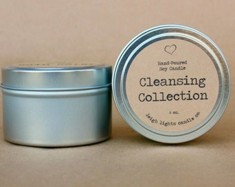 6 oz. Travel Tin | Cleansing Collection  | Soy Candle  | CHOOSE YOUR SCENT