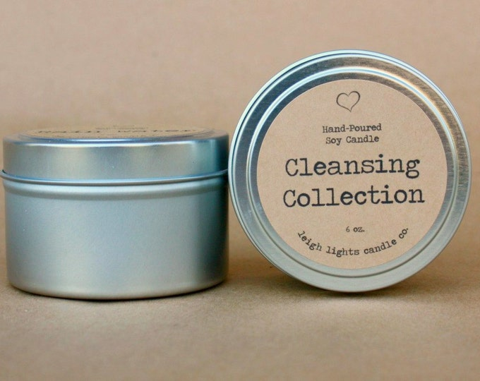 6 oz. Travel Tin   Cleansing Collection    Soy Candle    CHOOSE YOUR SCENT