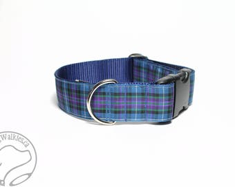 """Ancient Pride of Scotland Tartan Dog Collar / 1.5"""" Wide(38mm) / Choice of style and size - Martingale Dog Collars or Quick Release"""