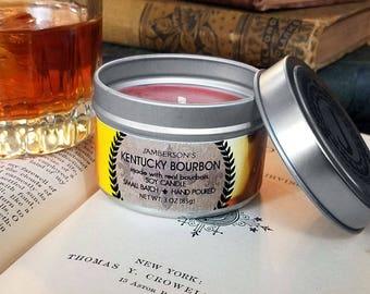 Kentucky Bourbon Soy Candle 3 oz   Men's Gift
