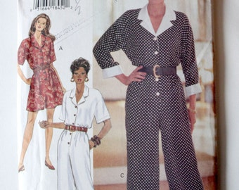 1990's Jumpsuit Sewing Pattern - Buterwick Jumpsuit / Playsuit Sewing pattern