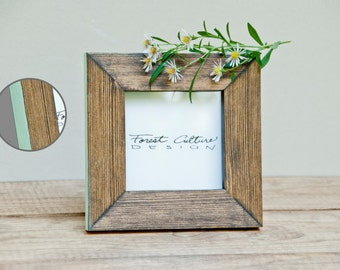 4x4 Picture Frame | Wood Picture Frame | Colored Edge | More colors available