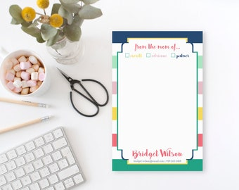 From the Mom of Notepad, Personalized Notepad for Mom, Custom Notepad for Mom, Stylish Notepad, Personalized Gift for Mom, Mother's Day Gift