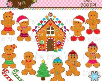 40% Off! Gingerbread Digital Clip Art Instant Download