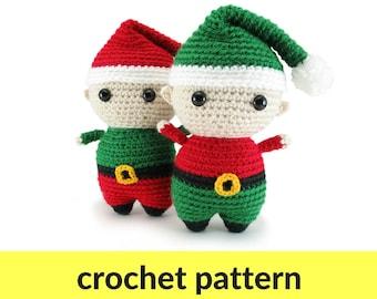 Elf amigurumi pattern - Christmas crochet pattern, elf crochet pattern, Christmas elf pattern, Christmas amigurumi, holiday crochet pattern