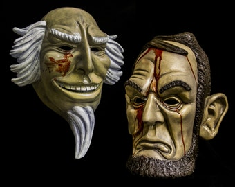 Lincoln and Uncle Sam mask set, Purge election year inspired.