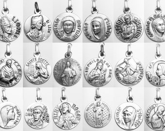 Medals holy first names gold plated 3 microns diameter 18mm
