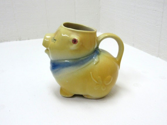Vintage Shawnee Pottery Smiley Pig Pitcher Creamer / Planter #86
