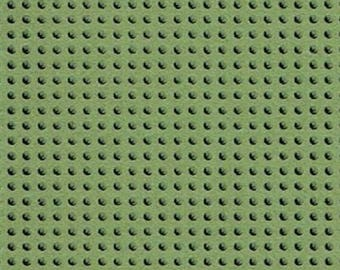 Paper perforated embroidery green KHAKI - 15 x 15 cm
