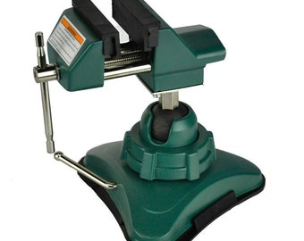 "2-3/4"" Vacuum Base Vise Jewelers Hobby Bench Vice Tool 360 Swivel Tilts Rotates"