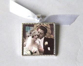 Bridal Bouquet Charm, Bridesmaid Bouquet Charm, Wedding Bouquet Charm, wedding memorial bouquet charms, Bridal Charm Photo Memory Charm