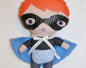 Plush masked superhero