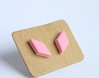 Kawaii pink marshmallow post earrings pastel pink ear studs pink candy stud earrings pink marshmallow cute sweet lolita ear studs