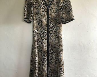 Vintage Animal Print Dress Size 12