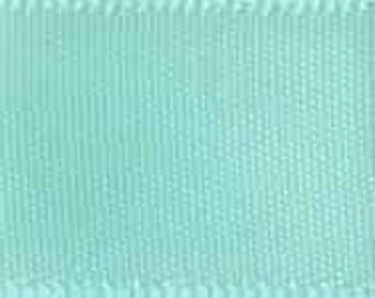 """CLEARANCE! -- 2 1/4"""" Morex Double Face Satin Ribbon - Aqua - 50YDS - Only 1 Roll Left!"""