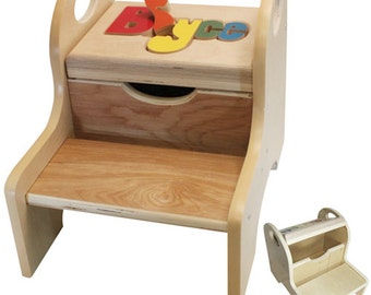 "The Premium Name Puzzle Stool (""FREE"" Shipping) ( Put Child's Name in Notes to Seller on Checkout Page)"