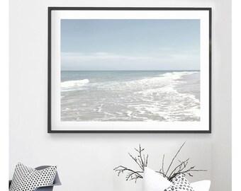 PALE BLUE PRINT, Pale Blue Ocean Print, Printable Wall Art, Coastal Wall Art, Digital Download, Pale Blue Wall Art, Ocean Photo, Pale Blue