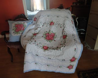 quilt and matching pillow