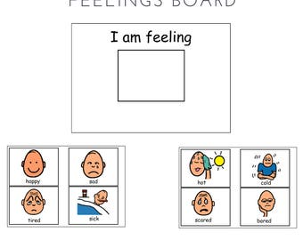 I am feeling -  Interactive Board - Autism PCS and ABA visual Aid emotions, feelings, download, behaviour management