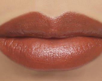 """Vegan Lipstick - """"Snapdragon"""" (pearly coral peach lipstick color) natural lip tint, balm, lip colour mineral lipstick"""