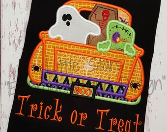 Trick or Treat Halloween Truck Shirt - Colored shirts are Extra