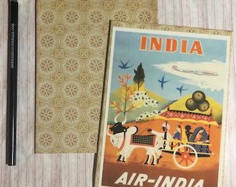 Travel journal, notebook, travel diary, diary, sketchbook, blank - India -- Journal / Sketchbook