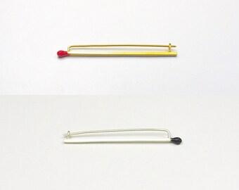 Matchstick Brooches / Pins