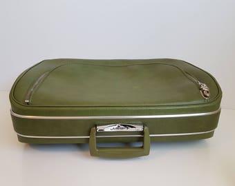 Vintage 60's Jetliner Suitcase,  Luggage, Vintage Travel