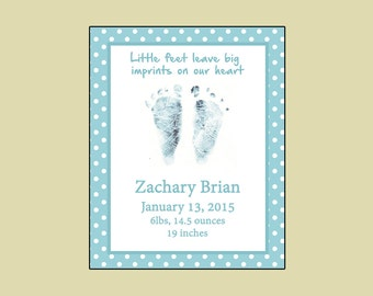 Personalized Baby footprint plaque