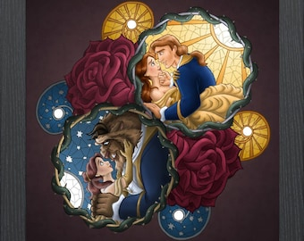 Disney Beauty And The Beast Counted Cross Stitch Pattern Instant PDF Download
