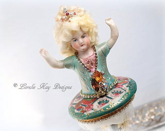 Art Doll Ballerina Dancer Doll Assemblage Art Doll Antique Blonde China Head Doll  Lorelie Kay Original