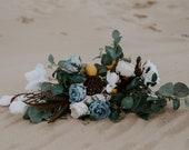 Modern Airy Boho Bridal Bouquet // Yellow & Blue // Wedding Bouquet, Bridal Bouquet, Boho Bouquet