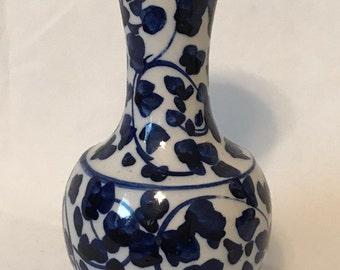 Blue & White Chinoiserie Style Bud Flower Vase