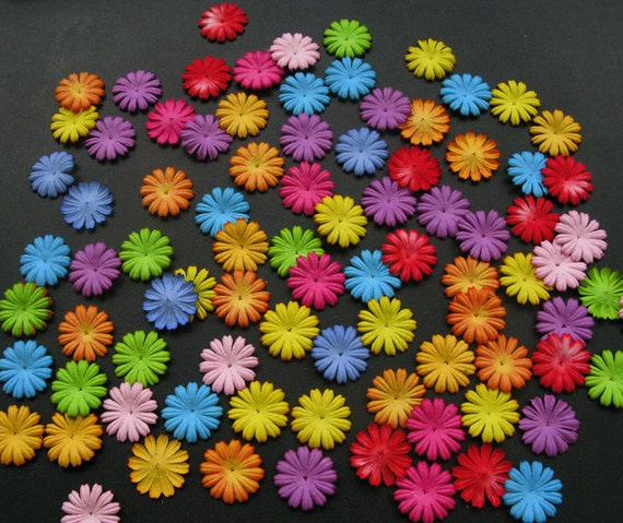 Wholesale 100 daisy mulberry paper flowers mixed color paper flowers 599 mightylinksfo