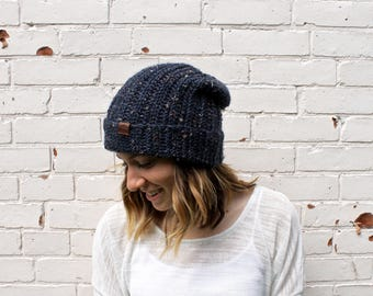 Classic Soft Slouchy Hat | Knit Winter Beanie