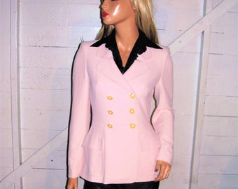 Moschino Cheap & Chic Pale Pink Double Breasted Jacket 6
