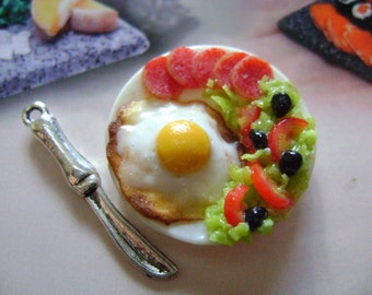 dollshouse miniatures, eggs ,  puppenhaus, maison de poupeès miniature food