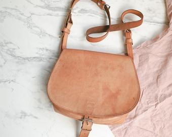 Vintage leather bag | Vintage leather satchel | Vintage cross body bag | 1970s leather bag | 70s tan leather bag | Vintage satchel