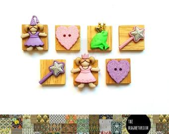 Frog Prince Magnets [Fridge Magnets, Fridge Magnet Sets, Refrigerator Magnets, Magnet Sets, Office Decor, Kitchen Decor, Magnetic Board]