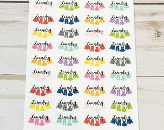 Laundry / Clothesline Icon Planner Stickers