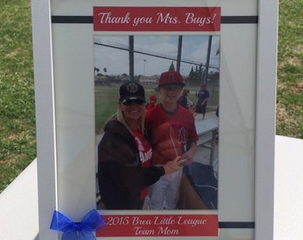 Baseball Team Mom Gift, Baseball Coach Gift, Coach Gift, Gift for Coach, Thank you Coach, Personalized Picture Frame, Custom, Team Mom