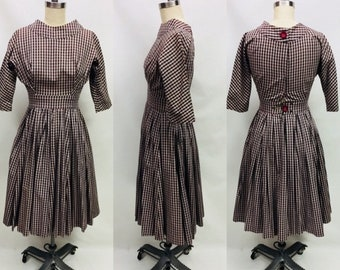 1950s Style plaid Dress