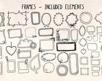 48 Photo Frame Illustrations - Vector Graphics Bundle!