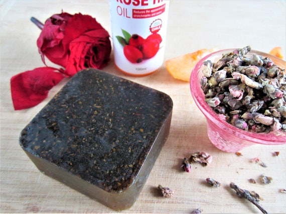 Peach Blossom & Rosehip Natural Homemade Bar Soap by Shawn's Soaps