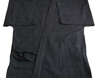 ChomThong Hand Woven Cotton Japanese kimono Samue Jacket  (BFS-123-01)
