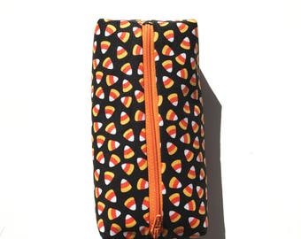 Candy corn pencil pouch