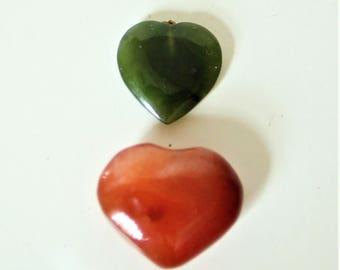 JADE & CORNELIAN HEARTS
